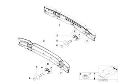 E46 330Ci M54 Coupe / Vehicle Trim/  Carrier Bumper Rear