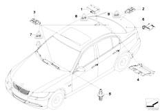 E90 316i N45N Sedan / Vehicle Electrical System/  Control Unit Antennas Passive Access