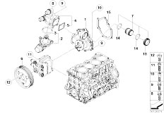 E46 316i N45 Sedan / Engine/  Waterpump Thermostat