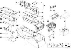 E46 330Ci M54 Coupe / Vehicle Trim/  Centre Console Cubbies