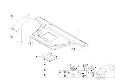 E46 330Ci M54 Coupe / Vehicle Trim/  Reinforcement Body