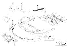 E83 X3 2.0d M47N2 SAV / Seats/  Front Seat Frame Mech El Singl Parts