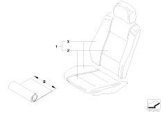 E83 X3 2.0d M47N2 SAV / Seats/  Cover Running Metre