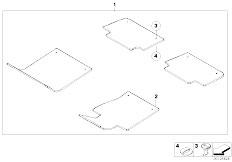 E46 330Ci M54 Coupe / Vehicle Trim/  Floor Mats Velours-2