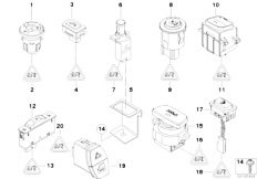 E90 316i N45N Sedan / Vehicle Electrical System/  Various Switches