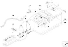 E90 316i N45N Sedan / Vehicle Electrical System/  Battery Lead Distribution Box Rear