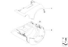 E90 316i N45N Sedan / Vehicle Electrical System/  Steering Column Trim