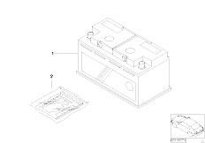 E90 316i N45N Sedan / Vehicle Electrical System/  Original Bmw Battery Filled