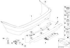 E46 330Ci M54 Coupe / Vehicle Trim/  M Rear Bumper Trim