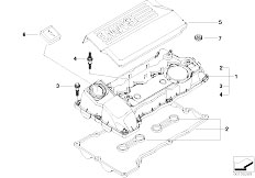 E46 316i N45 Sedan / Engine/  Cylinder Head Cover