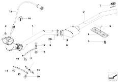 bmw e36 exhaust system diagram