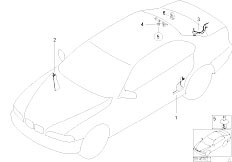 E46 325Ci M54 Cabrio / Vehicle Electrical System/  Cable Covering
