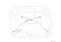 E46 330Ci M54 Coupe / Vehicle Trim/  Boot Lashing Strap