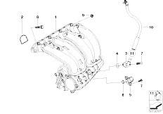 E46 316i N45 Sedan / Engine/  Intake Manifold System