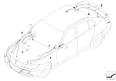 E90 316i N45N Sedan / Vehicle Electrical System/  Replacement Cable F Main Cable Harness