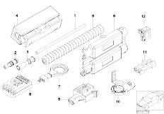 E90 316i N45N Sedan / Vehicle Electrical System/  Repair Parts Optical Fibre Cable