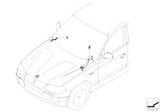 E83N X3 2.0d M47N2 SAV / Vehicle Electrical System/  Wiring Duct