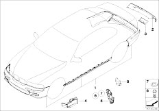 E46 330Ci M54 Coupe / Vehicle Trim/  Retrofit Kit M Aerodyn Package