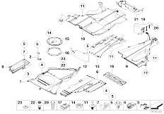 E46 330Ci M54 Coupe / Vehicle Trim/  Underfloor Coating