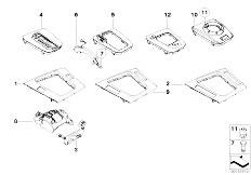 E46 330Ci M54 Coupe / Vehicle Trim/  Storing Partition Cover