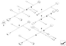 E90 316i N45N Sedan / Vehicle Electrical System/  Wiring Set Seat