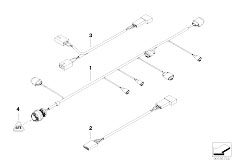 E46 M3 S54 Coupe / Vehicle Electrical System/  Various Additional Wiring Sets