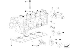 E46 316i 1.9 M43 Sedan / Engine/  Cylinder Head Attached Parts