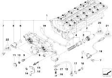original parts for e60 530i m54 sedan engine timing case cylinder head vanos e60 530i m54 sedan engine cylinder head vanos