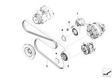 original parts for e90 325i n52 sedan    engine   crankcase