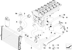 original parts for e39 530i m54 sedan engine cooling system cooling system water hoses e39 530i m54 sedan engine cooling system water hoses