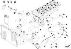 original parts for e i m sedan engine cooling system e39 530i m54 sedan engine cooling system water hoses 2