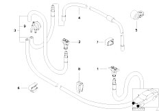E39 520i M52 Sedan / Vehicle Electrical System/  Single Parts For Head Lamp Cleaning