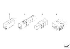 E90 316i N45N Sedan / Vehicle Electrical System/  Plug Housing Aerial Lead Fakra