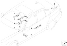 E90 316i N45N Sedan / Vehicle Electrical System/  Cable Guide