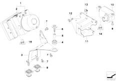 E46 316ti N42 Compact / Brakes/  Hydro Unit Dsc Fastening Sensors-3