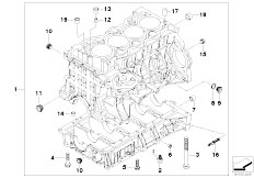 E46 316i N45 Sedan / Engine/  Engine Block