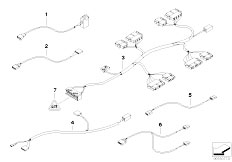 E46 320d M47 Touring / Vehicle Electrical System/  Wiring Set Seat