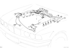 bmw 330xi engine diagram original parts for e38 740i m60 sedan / engine electrical ... bmw e38 engine diagram