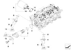 E46 316i N45 Sedan / Engine/  Cylinder Head Electr Add On Parts