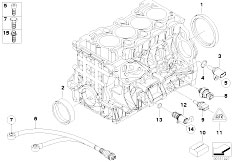 E46 316i N45 Sedan / Engine/  Engine Block Mounting Parts