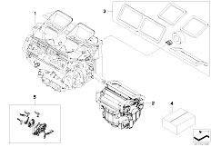 E90 320si N45 Sedan / Heater And Air Conditioning/  Housing Parts Aut Air Conditioning Valeo