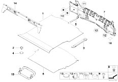 E46 330Ci M54 Coupe / Vehicle Trim/  Trim Panel Trunk Floor