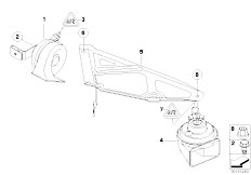 E90 316i N45N Sedan / Vehicle Electrical System/  Horn