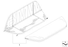 E46 318Ci N46 Cabrio / Sliding Roof Folding Top/  Wind Deflector-3