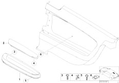 E46 330Ci M54 Coupe / Vehicle Trim/  Armrest Rear