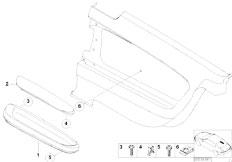 E46 330Ci M54 Coupe / Vehicle Trim/  Armrest Rear