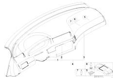 E46 330Ci M54 Coupe / Vehicle Trim/  Fine Wood Trim