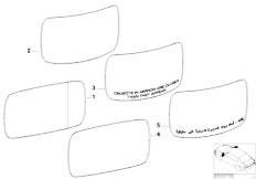 E46 330Ci M54 Coupe / Vehicle Trim/  Mirror Glass