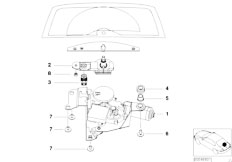 E46 320d M47 Touring / Vehicle Electrical System/  Single Parts For Rear Window Wiper