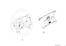 E46 316ti N42 Compact / Steering/  Wood Leather Steering Wheel Rim